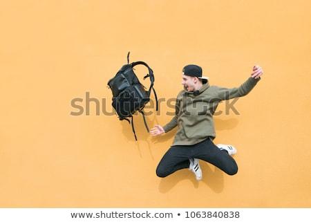 Studentów plecak teen stałego przyjaźni Zdjęcia stock © ambro