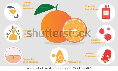 Haszon narancs terv gomb hosszú árnyékok Stock fotó © tashatuvango
