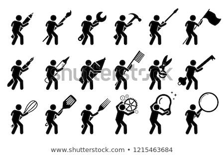 nagyító · tevékenység · nagyított · illusztráció · szó · fehér - stock fotó © ustofre9