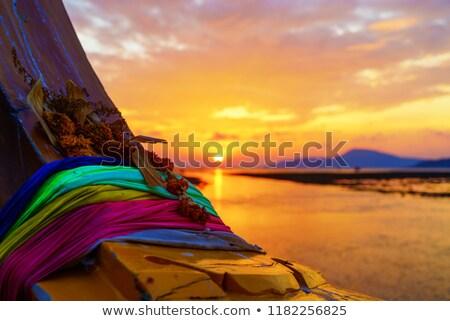 largo · cola · barco · agua · paisaje · mar - foto stock © sundaemorning