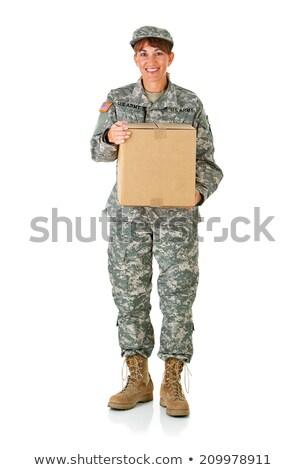 軍事 · 男 · 行使 · 郡 · 顔 · 幸せ - ストックフォト © oleksandro