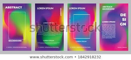 аннотация · геометрический · красочный · спектр · шаблон · фон - Сток-фото © bluelela