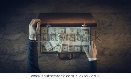 ビジネス · ブリーフケース · 孤立した · 白 · 黒 - ストックフォト © gemenacom
