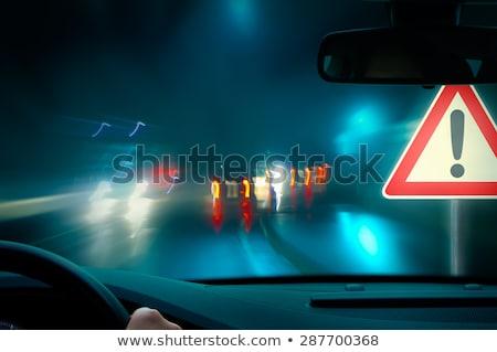 Stoplights at night Stock photo © gemenacom