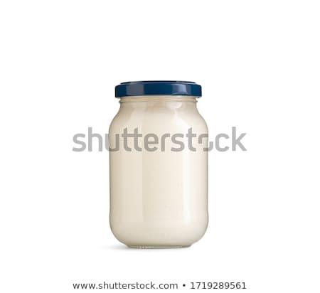 şişe mayonez beyaz gıda sarı konteyner Stok fotoğraf © dezign56