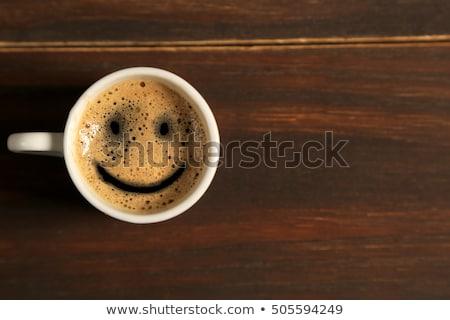 カップ コーヒー 笑顔 豆 食品 背景 ストックフォト © Studio_3321