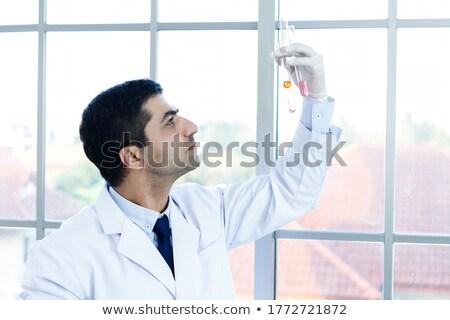lab · técnico · laptop · medicina · branco - foto stock © luckyraccoon