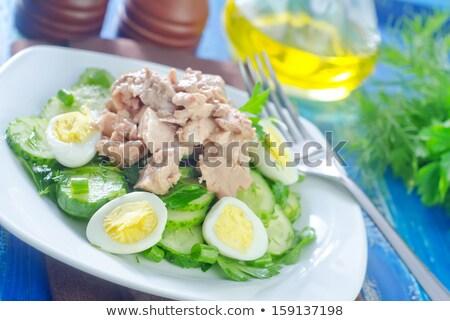 Lever salade banket restaurant tabel drinken Stockfoto © inxti