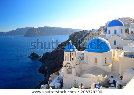 Church in Cyclades Islands, Santorini, Thira Stock photo © stoyanh