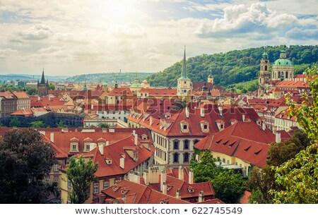 Prague · ville · photo · vue · château · colline - photo stock © dermot68