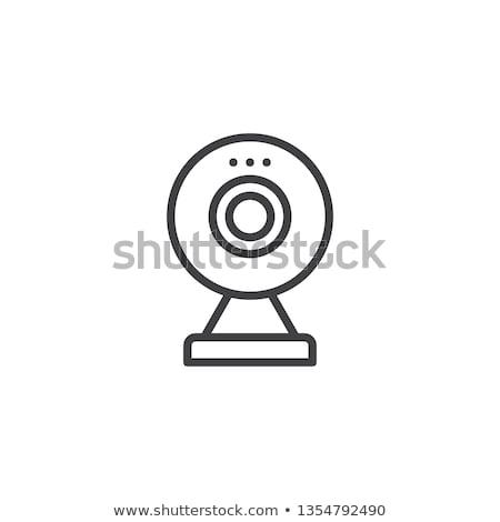 Webcam vecteur icône simple blanche ordinateur Photo stock © Mr_Vector