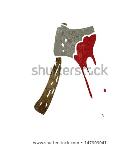 cartoon bloody axe Stock photo © lineartestpilot