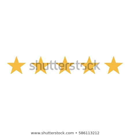 Stock photo: 5 Star Gold Vector Icon Button