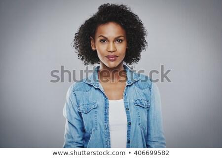 портрет серьезный заманчивый Lady женщину Сток-фото © majdansky