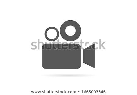 draagbaar · camera · eenvoudige · icon · witte · technologie - stockfoto © tkacchuk