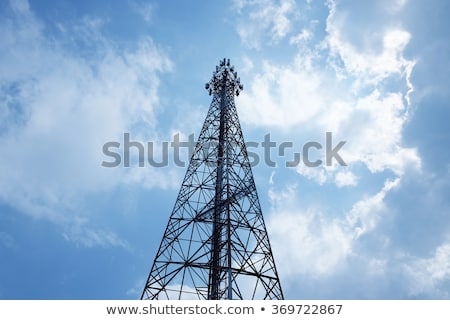 red and white communication tower stock photo © ssuaphoto