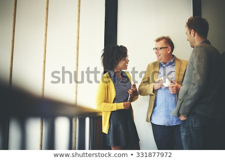 business people chatting at office stock photo © hasloo