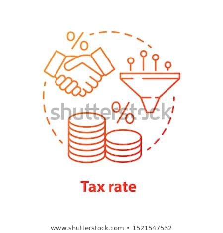 Budget deal Rood vector icon ontwerp Stockfoto © rizwanali3d