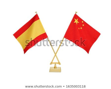 China and Spain - Miniature Flags. Stock photo © tashatuvango