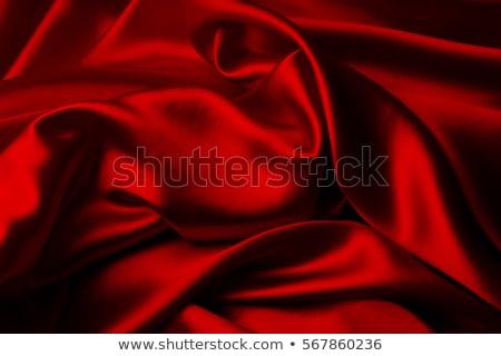 Stock photo: Red silk