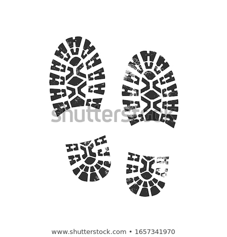 Grungy BootPrint stock photo © PokerMan