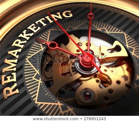 Reputation on Black-Golden Watch Face. Stock photo © tashatuvango