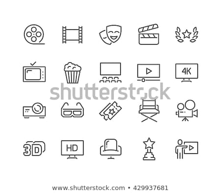 Vídeo filme multimídia ícones televisão teia Foto stock © kiddaikiddee