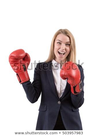 sexy · hermosa · boxeador · posando · mirando · cámara - foto stock © master1305