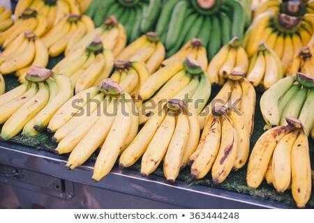 hámozott · áll · banán · egy · fehér · étel - stock fotó © rob_stark