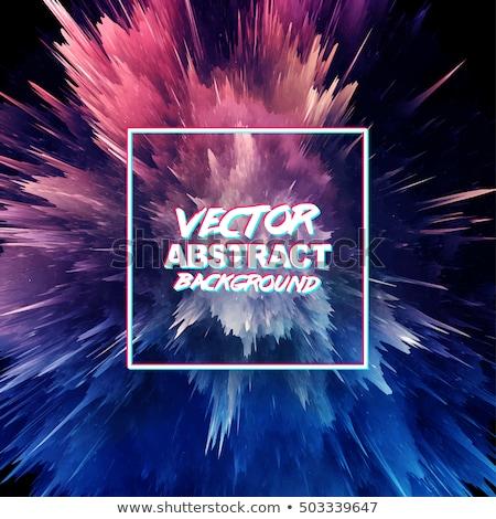 vector water ink splash burst in purple color stock photo © pinnacleanimates