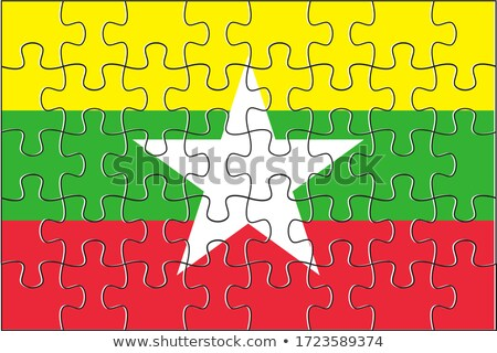 European Union and Myanmar Flags in puzzle Stock photo © Istanbul2009