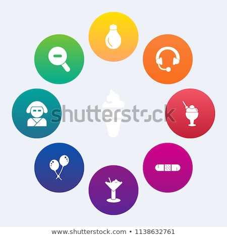 set of beautiful minimal vector graphic icons of music equipment stock photo © feabornset