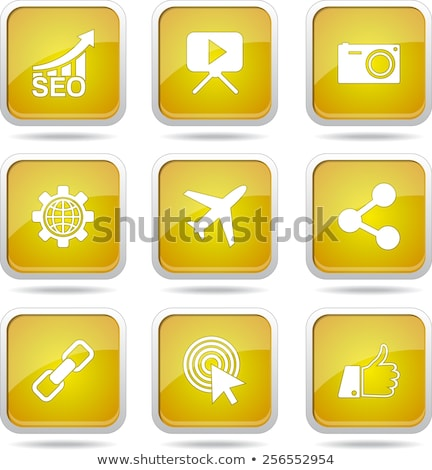 seo internet sign yellow vector button icon design set 1 stock photo © rizwanali3d