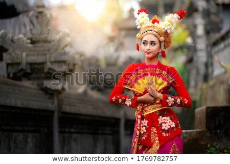 Indonéz hagyományos táncos háború tánc erős Stock fotó © tujuh17belas