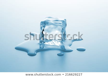 Olvad jégkocka levegő buborék bent fehér Stock fotó © karandaev