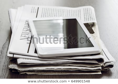 Pile of newspapers on a wooden table Stock photo © Valeriy