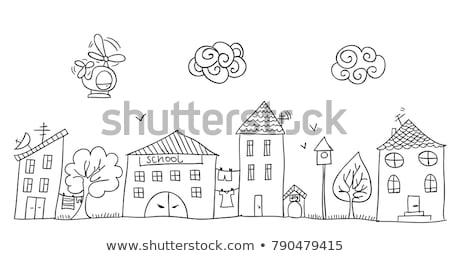 Сток-фото: болван · дома · детский · мало · радуга · дерево
