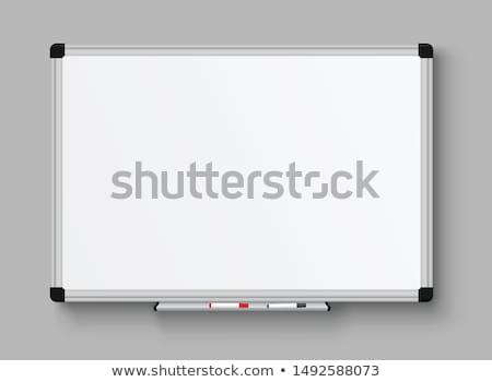manyetik · işaretleyici · tahta · beyaz · yalıtılmış · ofis - stok fotoğraf © voysla