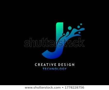 abstract vector logo letter J Stock photo © netkov1