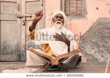 Edad indio hablar hasta sagrado Foto stock © ziprashantzi