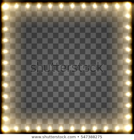 banners with electric bulbs decoration stock photo © voysla