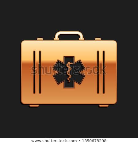 Health Kit golden Vector Icon Design Stock photo © rizwanali3d