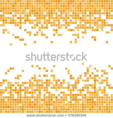 Arany pixeles absztrakt illusztráció vektor Stock fotó © derocz