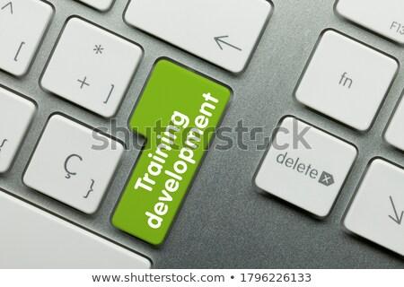 online education   written on yellow keyboard key stock photo © tashatuvango