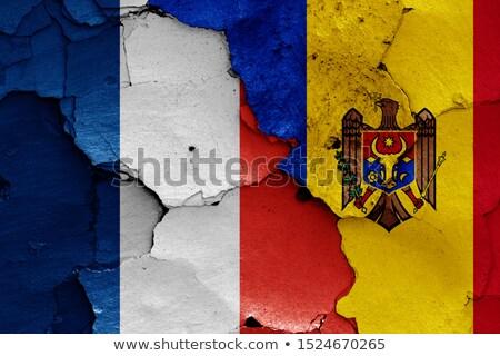 Fransa Moldova bayraklar bilmece yalıtılmış beyaz Stok fotoğraf © Istanbul2009