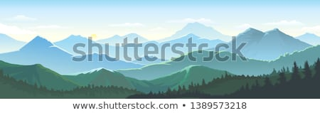 Stock photo: Lush grass in the mountains