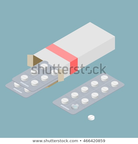 pack of medical pills isolated stock photo © ozaiachin