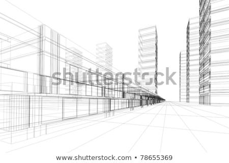 absztrakt · mértani · kerámia · kockák · különböző · magasság - stock fotó © stevanovicigor