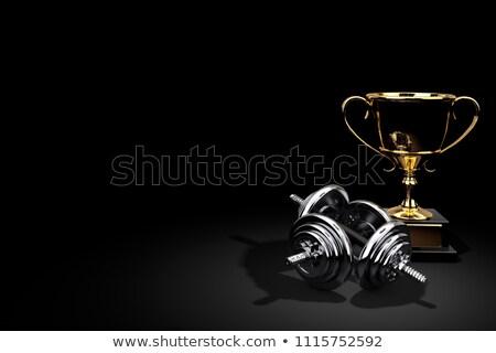 golden dumbbell Stock photo © shutswis