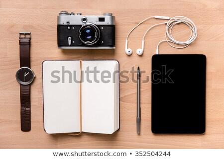 ноутбук старые камеры таблетка Сток-фото © deandrobot